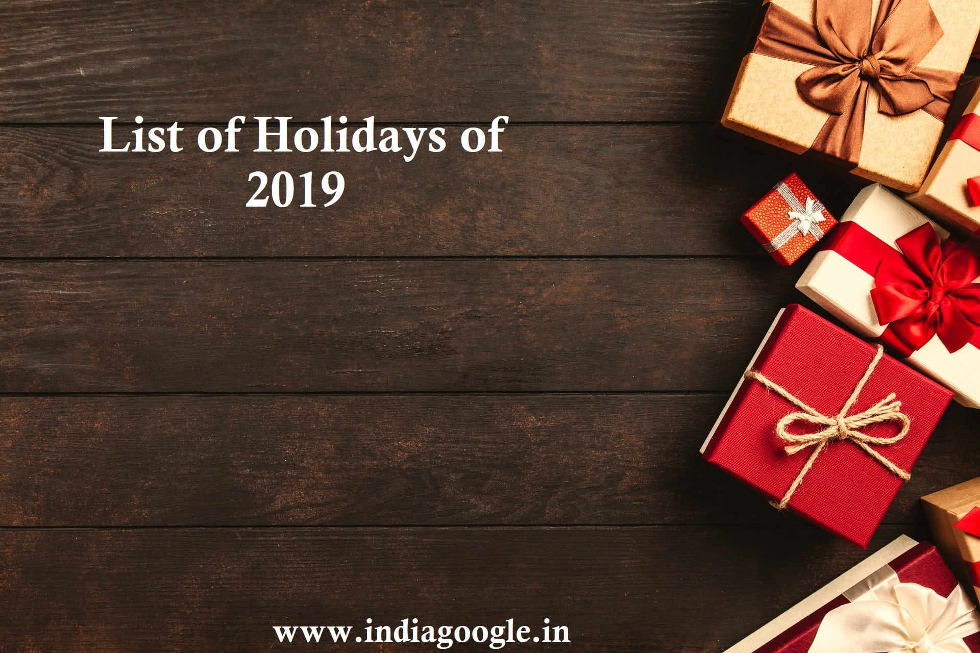 list of holidays | list of holidays 2019