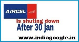 Shutting down of Aircel - 2018